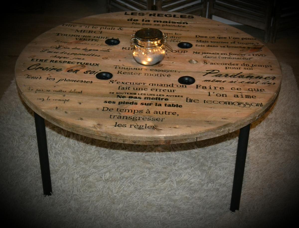 La table de salon les r gles de la maison - Maison de la table ...